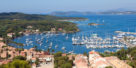 View of Porquerolles island marina from