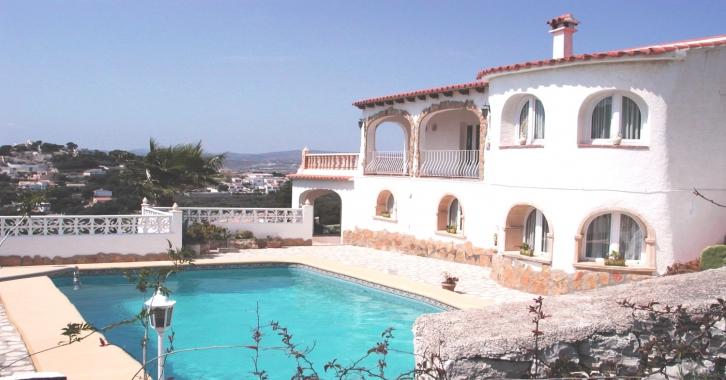 Moraira location saisonni re de villas plein air vacances - Villa avec piscine privee espagne ...